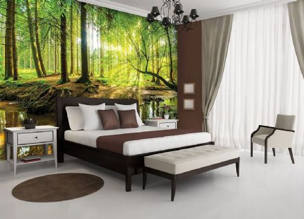 Vlies wallpaper mural Green Forest 10513